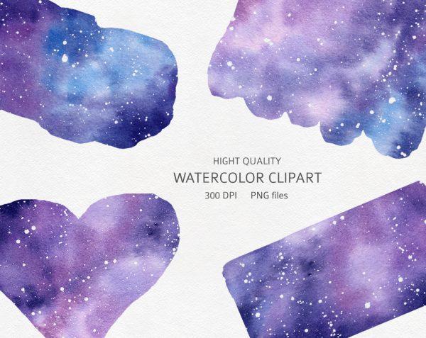 watercolor-galaxy-clipart