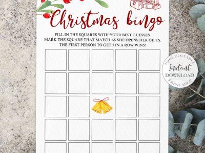 CHRISTMAS BINGO Game Printable,...