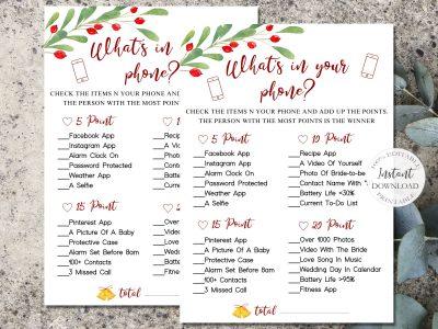 Christmas Games Printable, What's...