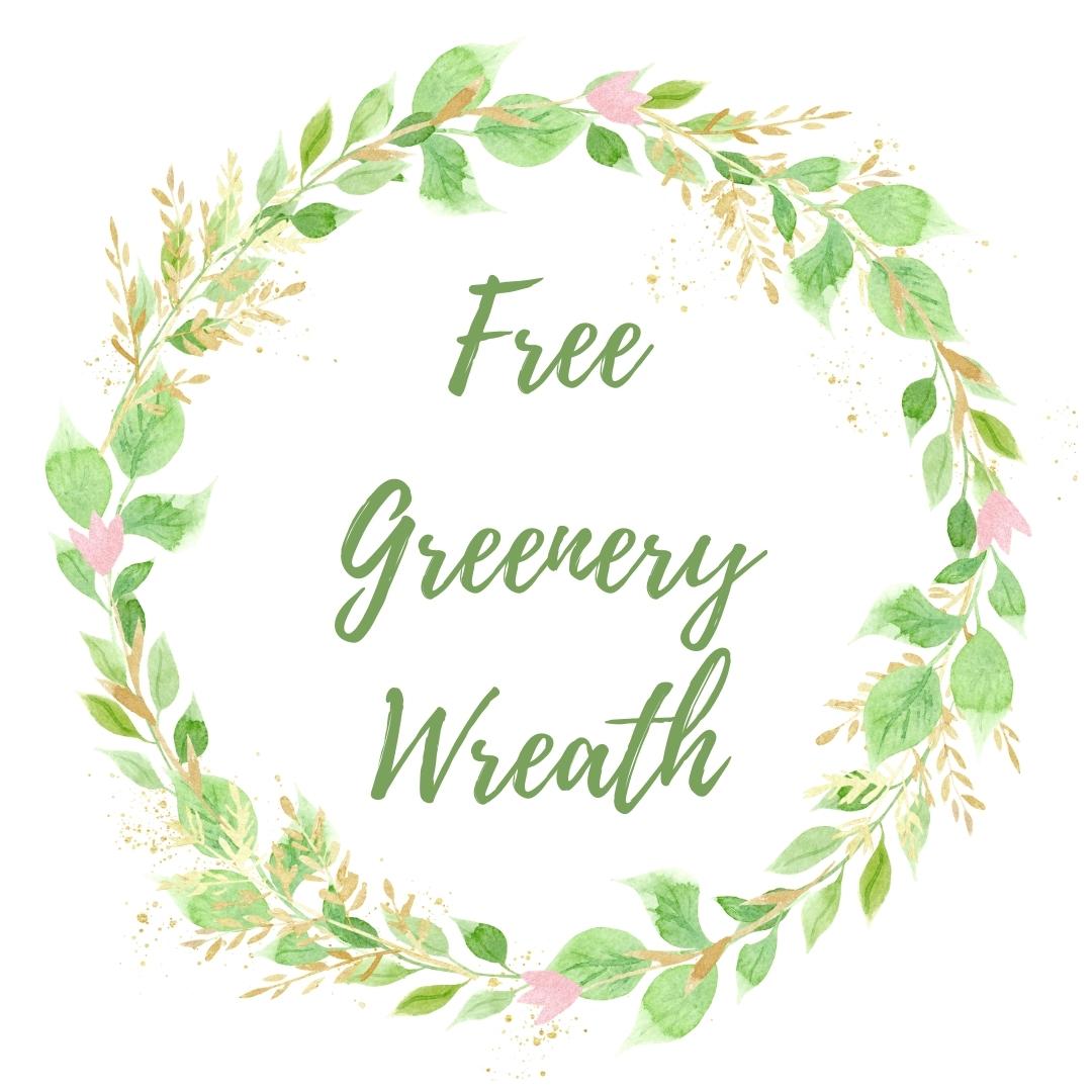watercolor greenery wreath