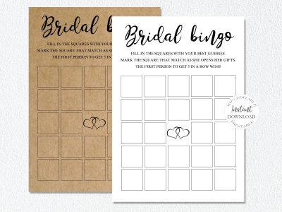 BRIDAL SHOWER BINGO TEMPLATE,...