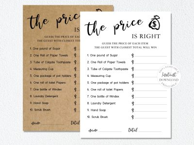 THE PRICE IS RIGHT...