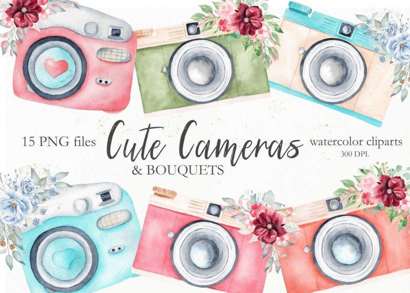watercolor-camera-clipart