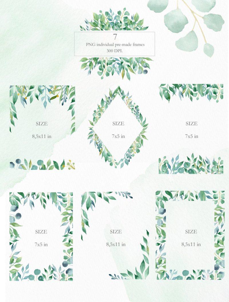 greenery-frame-clipart
