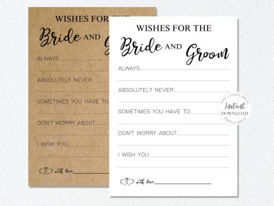 WISHES FOR BRIDE AND...