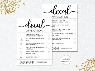 DECAL INSTRUCTIONS EDITABLE TEMPLATE,...