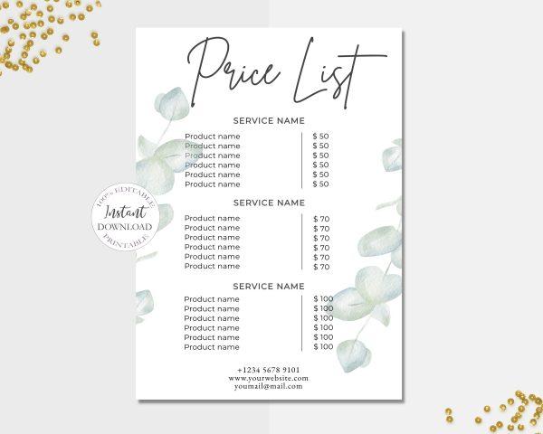 price_list_template