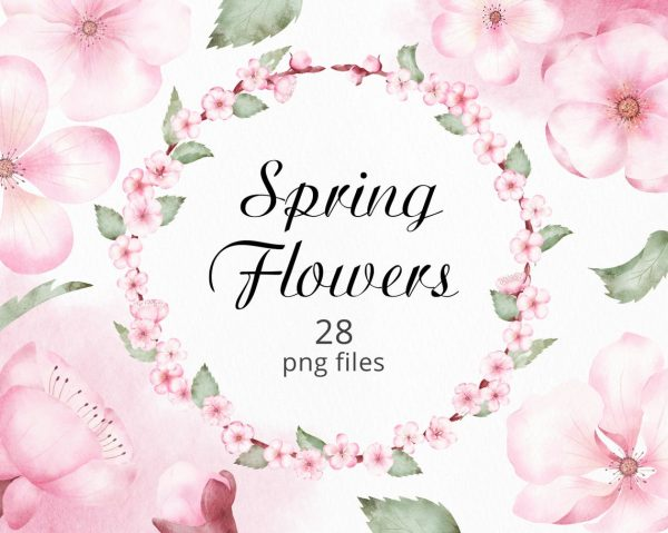spring-flowers-watercolor-clipart