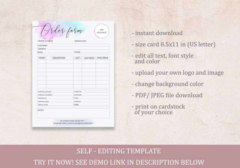 order-form-template