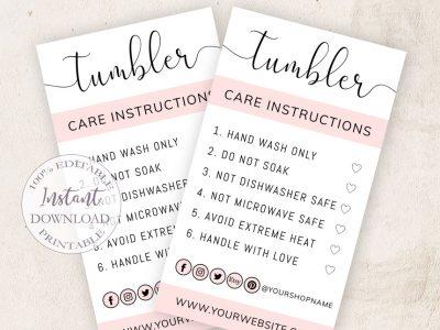 TUMBLER CARE CARD EDITABLE...