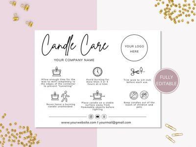 CANDLE CARE CARD EDITABLE...
