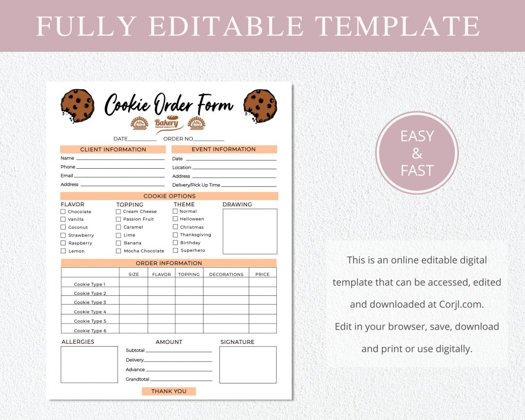 cookie_order_form_template